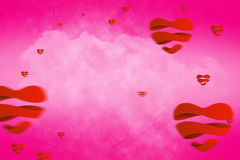 Composite image of hearts 3d Royalty Free Stock Image
