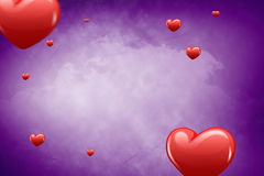 Composite image of hearts 3d Royalty Free Stock Photography