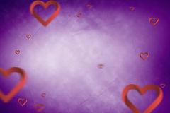 Composite image of hearts 3d Royalty Free Stock Images