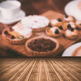 Composite image of high angle view of gray hardwood floor Royalty Free Stock Photos