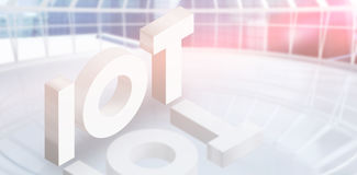 Composite image of high angle view of internet of things 3d Royalty Free Stock Photography