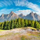 Composite image of High Tatra mountains stock photo