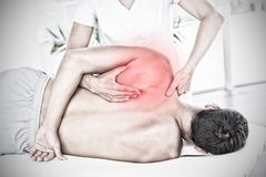 Composite image of highlighted pain stock image