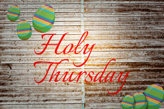 Composite image of holy thursday Royalty Free Stock Image