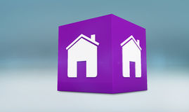 Composite image of home app cube Royalty Free Stock Photo
