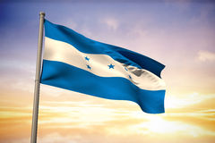 Composite image of honduras national flag Stock Photos