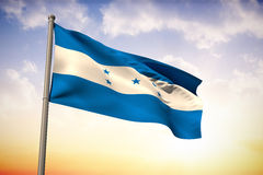 Composite image of honduras national flag Royalty Free Stock Photography