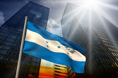 Composite image of honduras national flag Stock Image