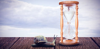 Composite image of hourglass Royalty Free Stock Photos