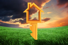 Composite image of house key Stock Image