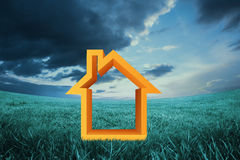 Composite image of house outline Stock Image