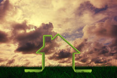 Composite image of house outline Stock Photos