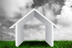Composite image of house outline Royalty Free Stock Images