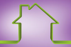 Composite image of house outline Royalty Free Stock Photo
