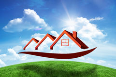 Composite image of house roofs Royalty Free Stock Images