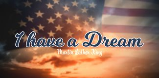 Composite image of i have a dream royalty free illustration
