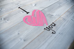 Composite image of i heart you Royalty Free Stock Image