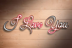 Composite image of i love you Royalty Free Stock Photo