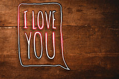 Composite image of i love you Stock Photo