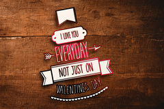 Composite image of i love you everyday Stock Image