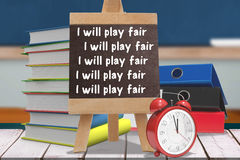 Composite image of i will play fair lines Royalty Free Stock Photography