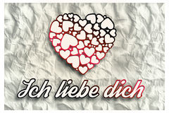 Composite image of ich liebe dich Royalty Free Stock Images