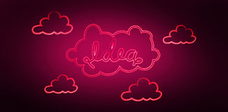 Composite image of idea in cloud Royalty Free Stock Photo