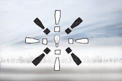 Composite image of idea doodle Stock Photo