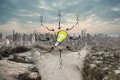 Composite image of idea doodle Stock Images