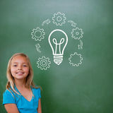 Composite image of idea and innovation graphic Stock Image