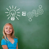 Composite image of idea and innovation graphic Royalty Free Stock Images