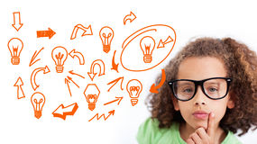 Composite image of idea and innovation graphic Stock Images
