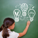 Composite image of idea and innovation graphic Stock Photo