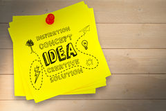A Composite image of idea and innovation graphic Stock Image