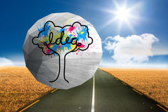 Composite image of idea tree on abstract screen Royalty Free Stock Images