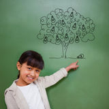 Composite image of idea tree Royalty Free Stock Image