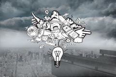 Composite image of ideas doodle Royalty Free Stock Photos