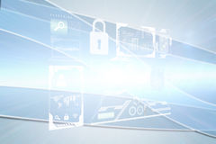 Composite image of identification interface Stock Photography