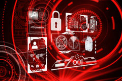 Composite image of identification interface Royalty Free Stock Images