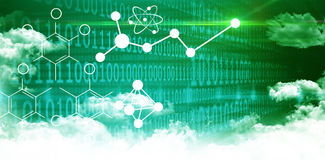 Composite image of illustration of chemical formulas Royalty Free Stock Images