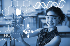 Composite image of illustration of chemical structure Stock Photo