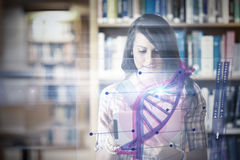 Composite image of illustration of dna Royalty Free Stock Image