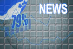 Composite image of illustration of 79 percent Stock Photos
