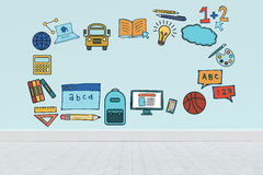 Composite image of illustrative image of education model Royalty Free Stock Photography