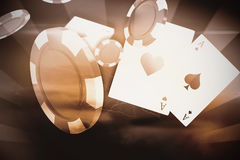 Composite image of  image of 3d gambling chips Royalty Free Stock Photos