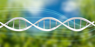 Composite image of image of dna helix Stock Image