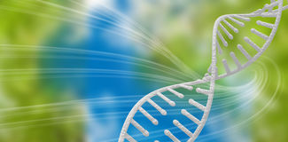 Composite image of image of dna helix Royalty Free Stock Image