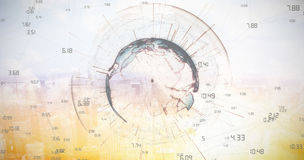 Composite image of image of earth with different times Stock Photography