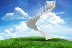 Composite image of image of isolated stairs Stock Photography