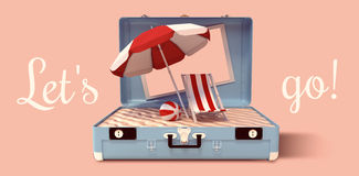 Composite image of image of a suitcase stock illustration